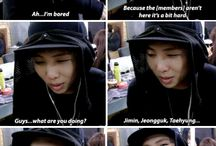 Rapmon the destroyer~ / -Kim Namjoon(Rapmonster) -born 12. September 1994 in Ilsan. -his favourite number is: 1 -his favourite colour is: black -he has one younger sister -his bloodtype ist: A -his nicknames are: Rapmon leader mon and god of destruction. -he has an IQ of 148 -he can speak fluet english and japanese~