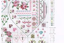 Cross stitch patterns - Hearts