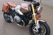 BMW R nine T new leather design. / New leather