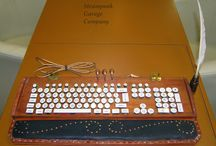 """Hermione's dream / This is a Harry Potter style witcher keyboard. Back is the magic wand holden, right side is the ink bottle. The font is the """"official"""" Hermione Granger handwriting style.It was the DCMM international modding contest final."""