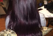 brown violet hair
