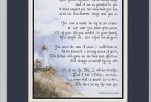 """""""My Father My Hero"""" Touching 8×10 Poem, Double-matted In Navy/White And Enhanced With Watercolor Graphics. A Gift For A Dad. 