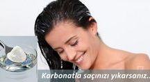 yıkama saçı karbonatla
