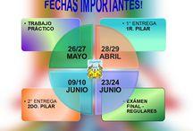 COMUNICANDO DATOS IMPORTANTES / calendario anual de fechas de trabajos prácticos, entrega de tesis, presentaciones finales de tesis, direcciones web, correos electrónicos.