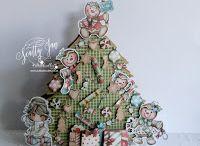 # 77 Pine tree card / Template # 77 Pine tree card available at www.sandrasscrapshop.blogspot.com