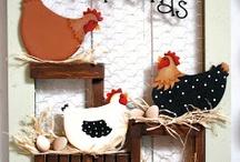 cuadro de gallinas