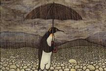 Pingüino con paraguas