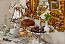 Silver Tea Set Display / by Stephanie Smith
