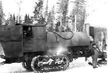 Steam log pulling engines