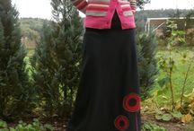 Má tvorba-dlouhé fleecové sukně / šití, ruční práce, návrhářství, Lelisa, fleece, flís, flíz, fleec, sukě, sukýnka, suknice