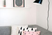 Rosa, cinza, branco e preto na decoração