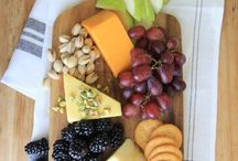 Cheese & tapas - wooden serving board