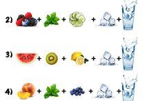 Acqua infusa con frutta
