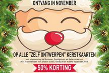 Printsy: Magische Kerst / Het magische kerst-gevoel creeer je door al die mooie kerstkaarten. Ontwerp je eigen kerstkaartjes en bestel ze in november met 50% korting! www.printsy.nl