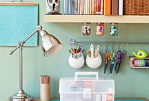 Organized Spaces by Cocoa Daisy / Ideas on organization from the Cocoa Daisy team. / by Cocoa Daisy Scrapbooking