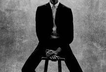B&W male portraiture