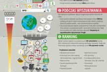 SEO / Infografiki o pozycjonowaniu i optymalizacji serwisów internetowych