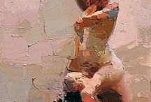 palette knife drawing