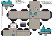 Invader Zim paper craft cube figures