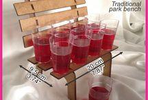 Exhibido mesa dulce