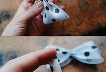 ribbon bows / by Crafty Conner