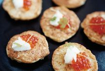 Appetizers and hors d'ouevres  / Cauliflower fritters with sour cream  / by Mary Regina