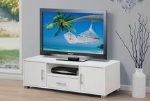 Modern TV Unit Stand White Living Room Wooden Furniture Cabinet Shelves Cupboard