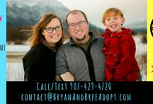 Bryan and Bree- Hoping to Adopt in Alaska / Bryan and Bree are hopeful adoptive parents in Southcentral Alaska. If you or someone you know is expecting and considering an open adoption plan, feel free to contact us on facebook at www.facebook.com/bryanandbreeadopt or you can call/text 907-429-4720.