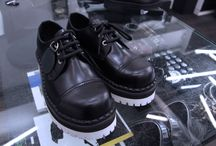 UNDERGROUND STEEL CAPS / The Original Steel Cap footwear from Underground. Formed on a last that had been used for producing British Army boots and work boots. Built on a rubber sole.