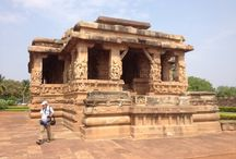 Aihole Temple Karnataka / The Durga temple is a medieval era Hindu temple located in Aihole in the state of Karnataka, India. It is part of a pending UNESCO world heritage site. The temple was built between the 7th and the 8th century by the dynasty of the Chalukyas.  http://asiavoyagers.com/DestFullDesc.aspx?DFId=42
