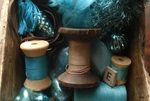 Shabby collection in Teal