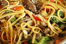 fried noodles with beef