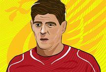 Steven Gerrard art illustration.