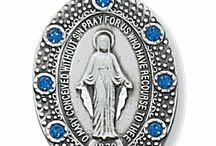 The Miraculous Medal / The Miraculous medal is a beloved piece of Catholic jewelry. Also known as the Medal of the Immaculate Conception, this piece of jewelry has been worn by Catholics since 1832! So you could say they've stood the test of time.   Over the years, the Miraculous medal has been remade and modeled in many different ways. Each one has been just as interesting and cool as the next!
