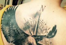Adler tattoo kompass