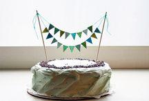 cake toppper n bundting / by Pulla Hegde