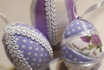 húsvétitojás / kūlönböző technikákkal készült tojások