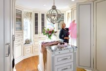Dressing Rooms / These large walk-in closets are the ultimate in luxury and space management.