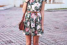 vestidos e chapéus
