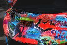 Graffiti car wrap