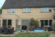 Toddington 2015 / Grey Cedar Woodgrain on White Woodgrain PVCu. The only time we've been asked to do this - it works incredibly well!