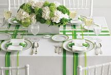 Place settings and table cards