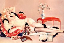 Alberto Vargas / My favorite pin-up artist. Vargs was known for his 'Vargas Girls' that frequented the pages of Esquire magazine during the WWII era.