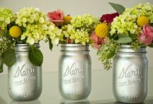 mason jars / I found these really cute things to do with mason jars. I have tons just setting around so I got really excited when I saw these. / by Trista Crawford