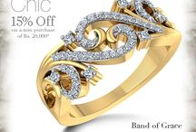 Go Chic / Get chic and stylish with our Go Chic collection.15% Off on minimum purchase of Rs. 20,000 on ALL Diamonds & Gemstones