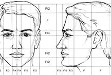 proporciones cabeza / Estas son las proporciones las cuales se utilizan para hacer dibujos en EPVA ( EDUCACIÓN PLÁSTICA VISUAL Y AUDIOVISUAL)