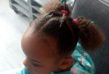 little mixed hair hair diy