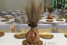 Afro wedding centrepieces