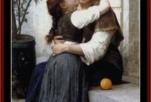 Bouguereau Cross Stitch Patterns by Cross Stitch Collectibles / Fine art counted cross stitch patterns adapted from the awesome Academic paintings of French artist Adolphe Bouguereau. Designs by Kathleen George, Cross Stitch Collectibles
