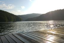 Lake dock Valiug ,Romanian Semenic Mountains